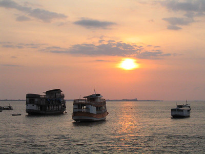 Sunrise on the Amazon, Santarem, Brazil