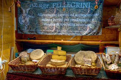 Christmas market, Lecco, Italy.