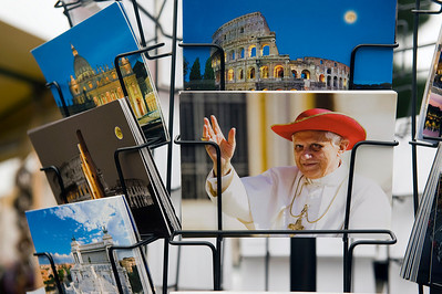 Pope Benedict XVI as a postcard, Rome, Italy.