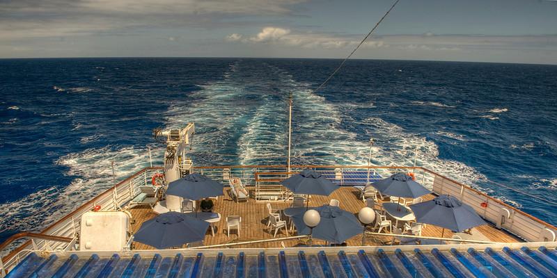 The RMS St. Helena at sea - HDR, South Atlantic Ocean.