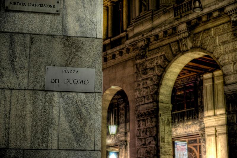 Piazza del Duomo HDR, Milan, Italy.
