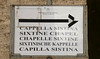 Sign, Vatican City.