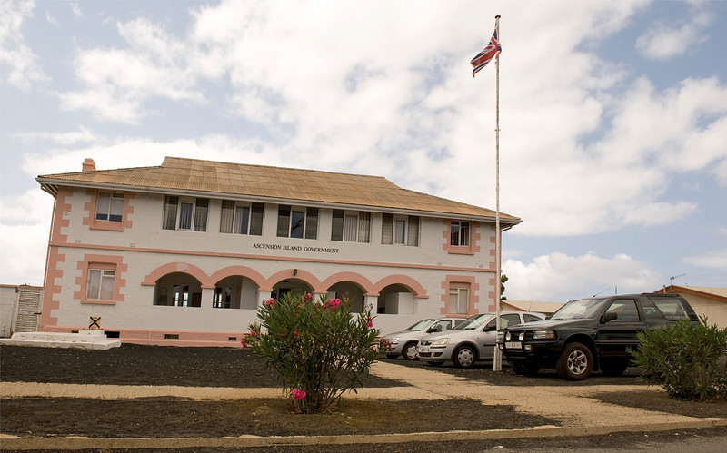 The government building at Georgetown, Ascension Island.
