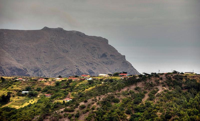 Landscape, St. Helena island, South Atlantic Ocean - HDR.