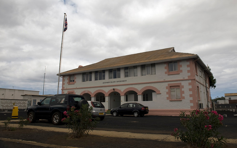 Government building, Georgetown, Ascension Island.