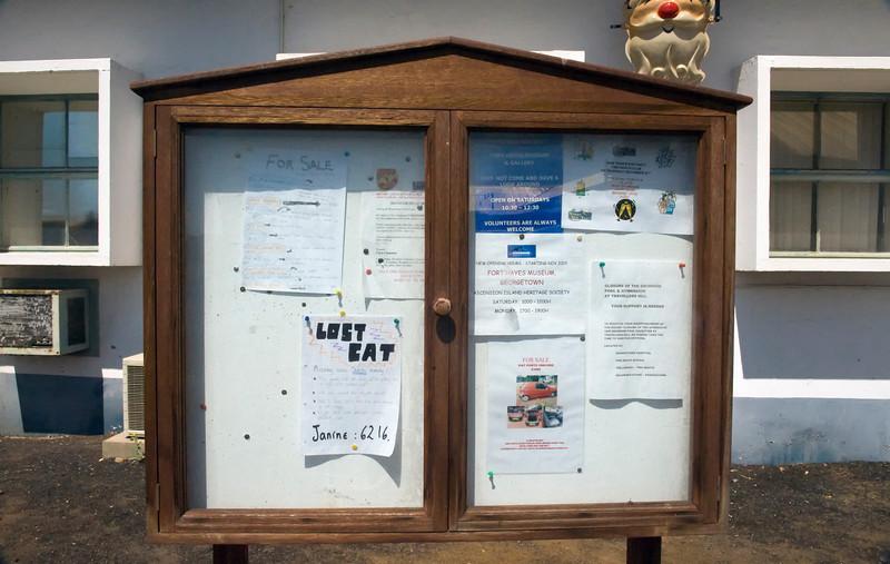 Bulletin board, Georgetown, Ascension Island.