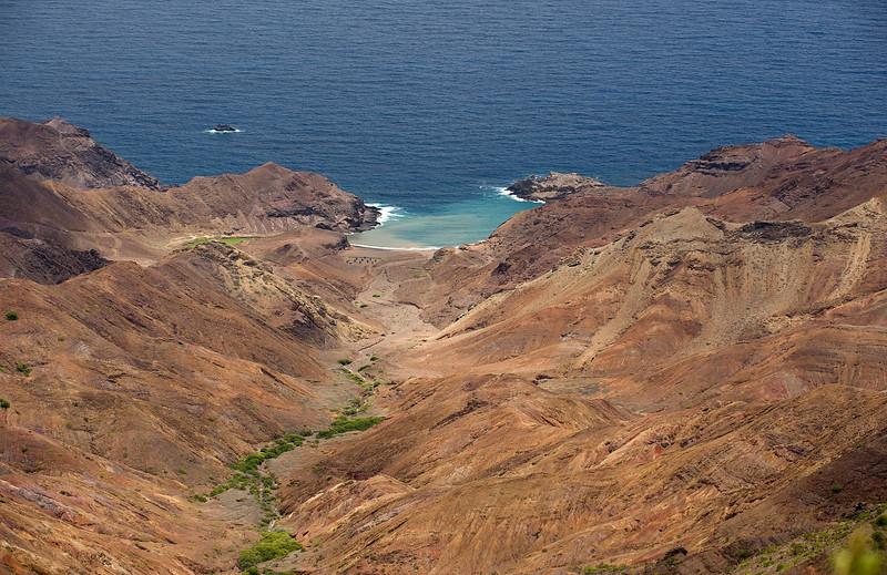 View to Sandy Bay, St. Helena island, South Atlantic Ocean.