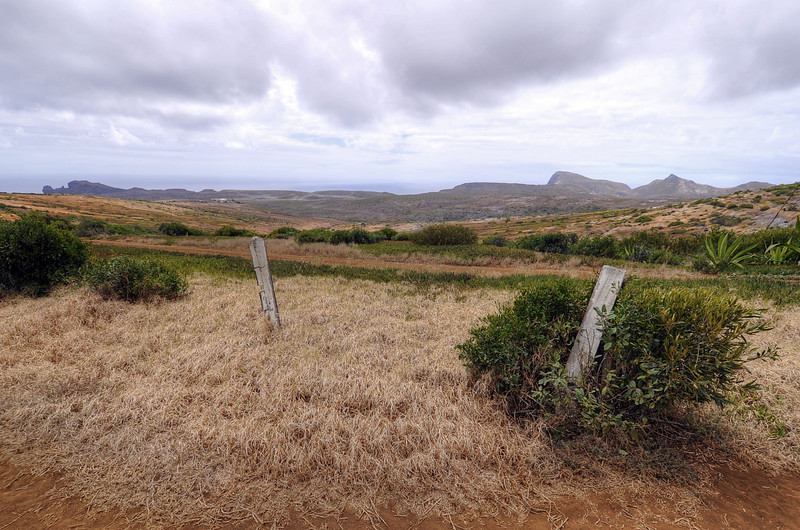 Landscape at Prosperous Bay, site of the long-proposed airport, St. Helena Island.