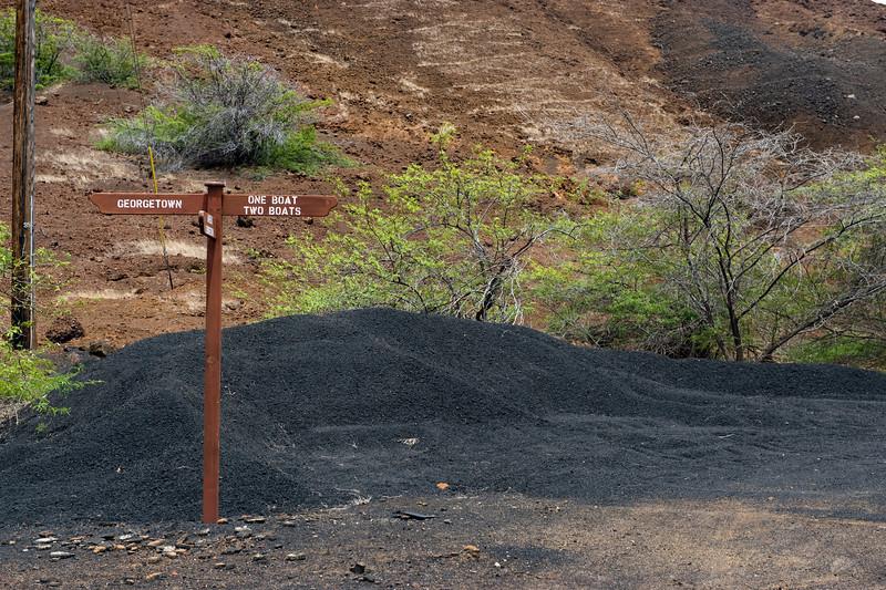 Road sign, Ascension Island.