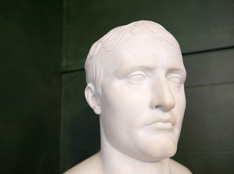 Bust of Napoleon at Longwood House, St. Helena island, South Atlantic Ocean.