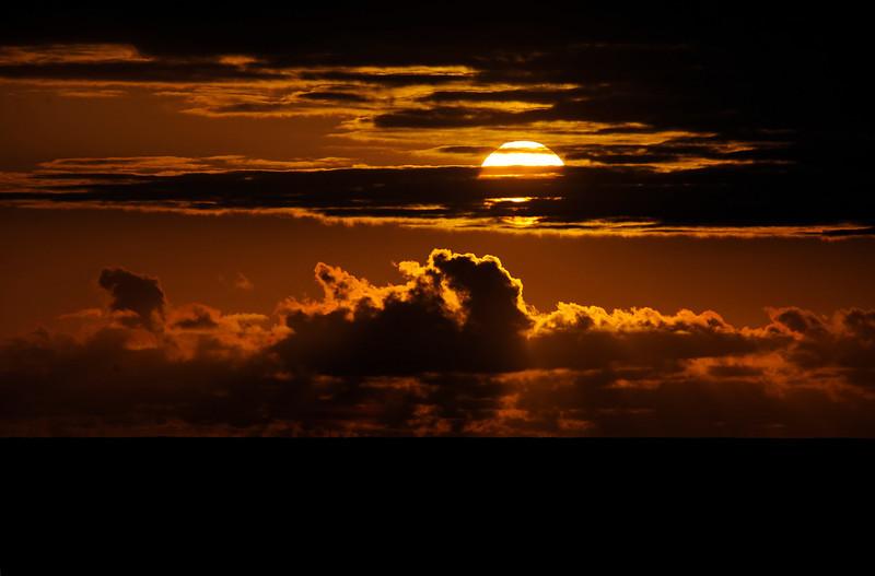 Sunset in the South Atlantic Ocean.