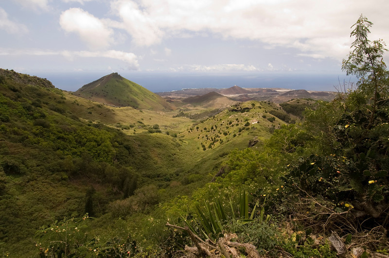 View from Green Mountain, Ascension Island.