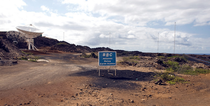 The BBC Atlantic Relay Station at English Bay, Ascension Island.