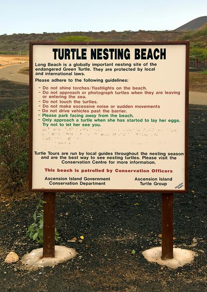 Sign, Ascension Island.