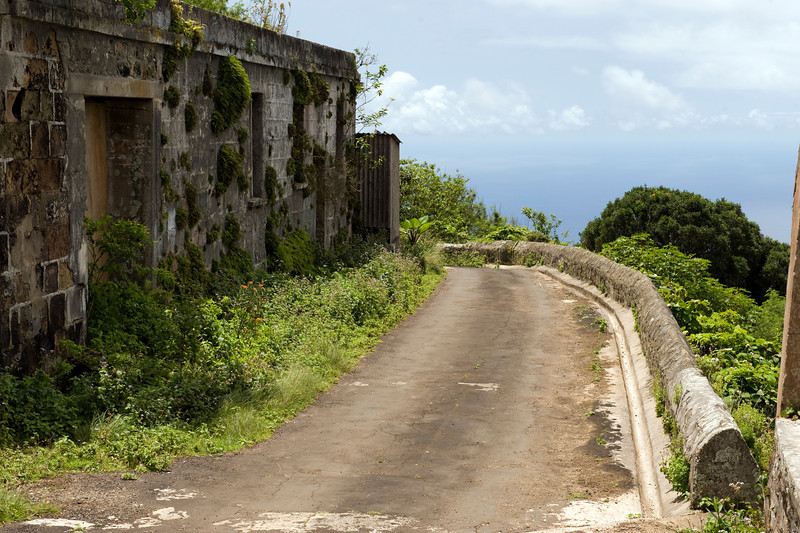 Old building atop Green Mountain, Ascension Island.