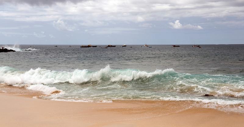 Atlantic rollers, Ascension Island.