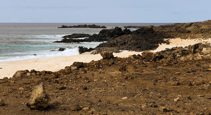 The surf at English Bay, Ascension Island.