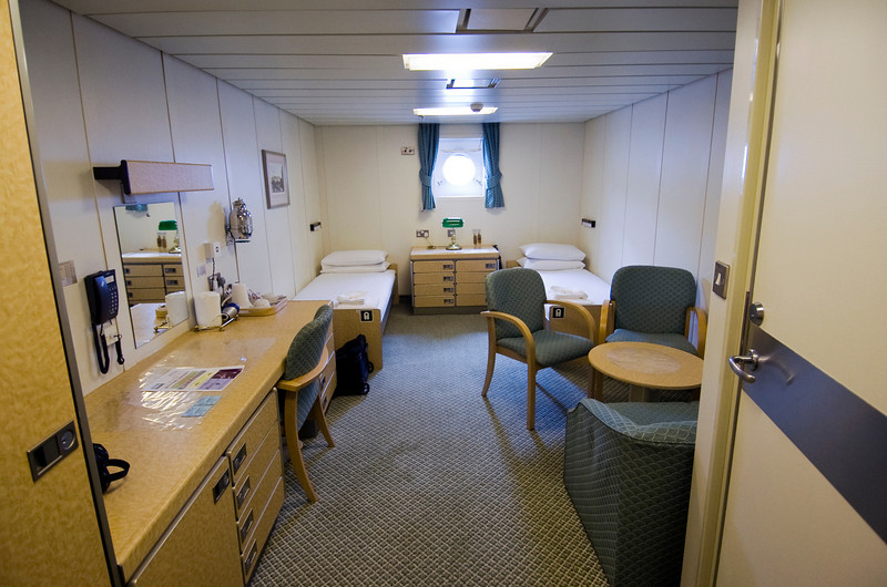 Cabin B36, the Royal Mail Ship St. Helena.