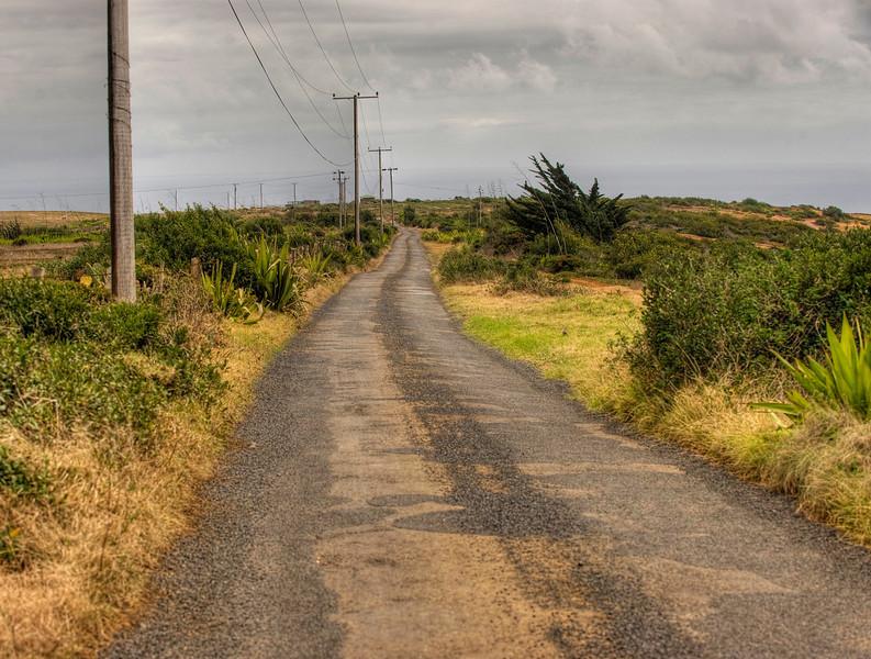 Road outside Longwood community, St. Helena island, South Atlantic Ocean.