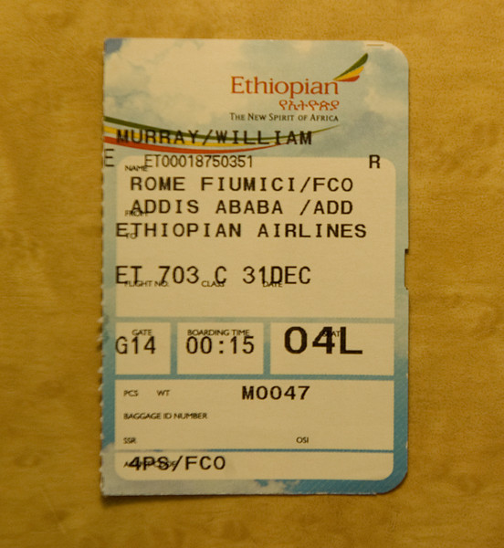 The flight on which the troubles began.
