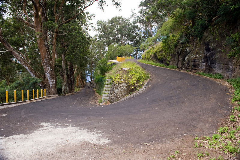 Switchback on the road to Green Mountain, Ascension Island.