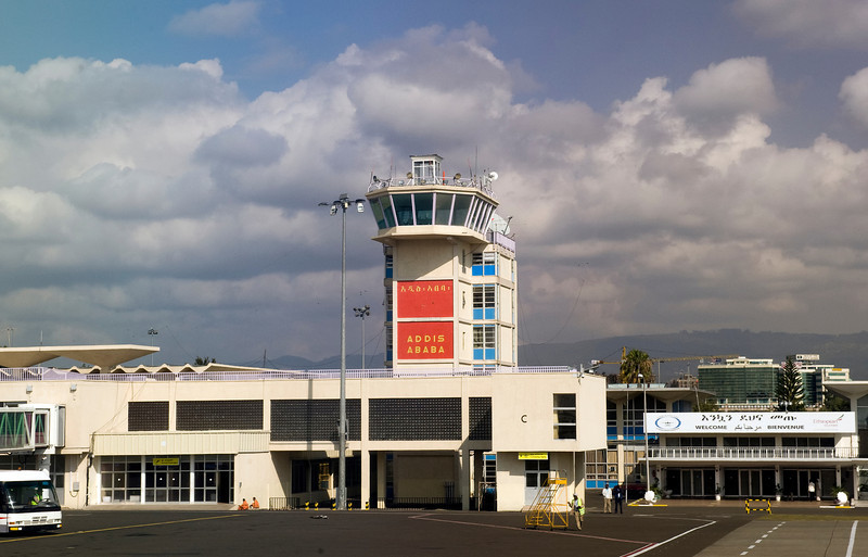 Bole International Airport, Addis Ababa, Ethiopia.