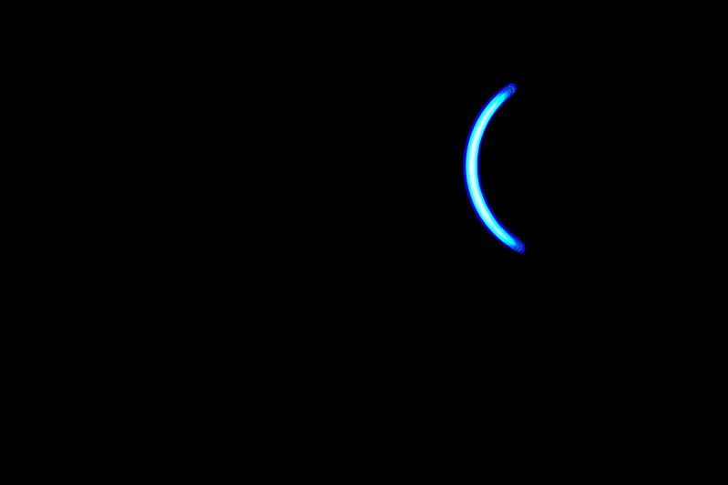 Moon Gradually Covers the Sun