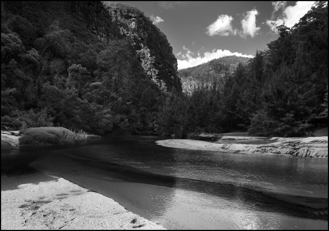 The confluence of the Wollemi Creek and the Colo and Capertee Rivers, Wollemi National Park, NSW 2010