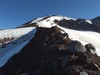 Looking up the ridge to the summit of South Sister.