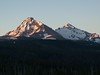 North & Middle Sisters from Dee Wright Observatory on the following morning.