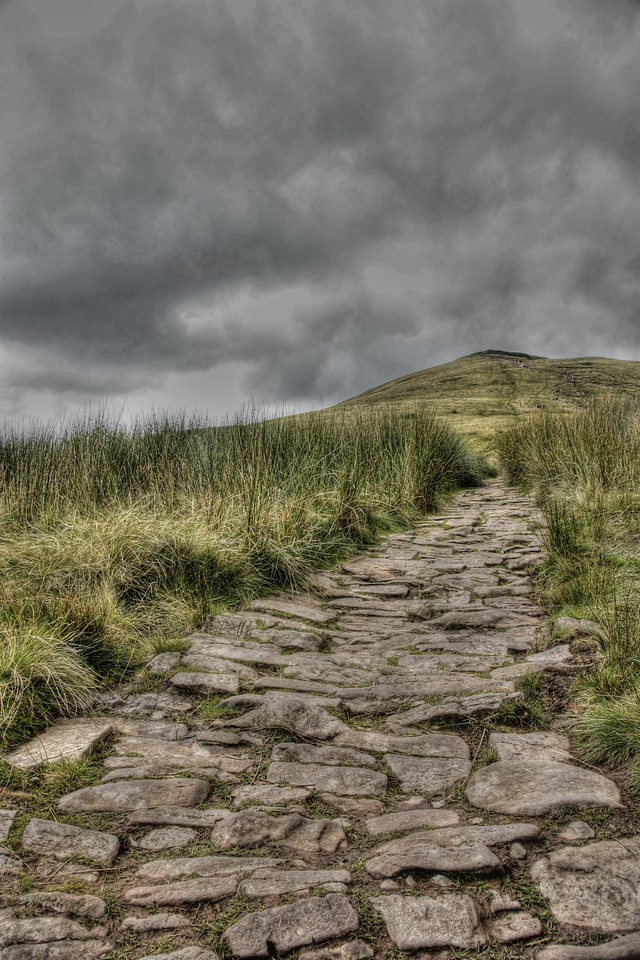 Its an uphill walk but worth it!  Brecon Beacons