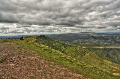 Brecon Beacons - Corn Ddu from Pen Y Fan