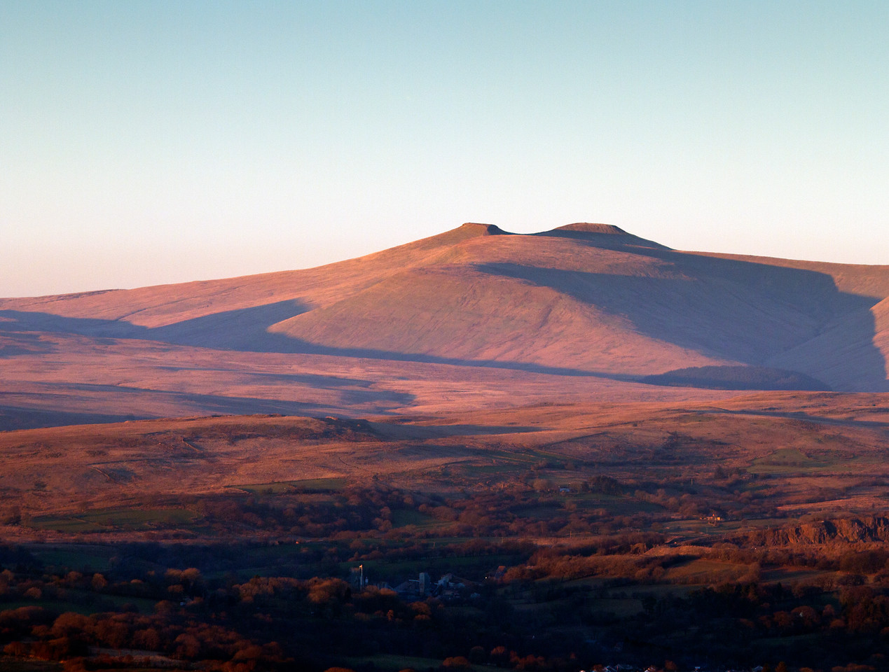 Brecon Beacons at sunset
