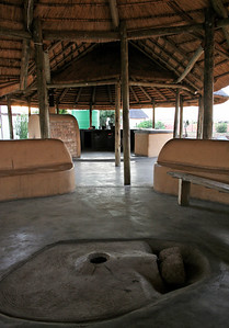 """""""bengali ground stove"""" in the outdoor kitchen at the YWAV site.  dennilton, south africa"""