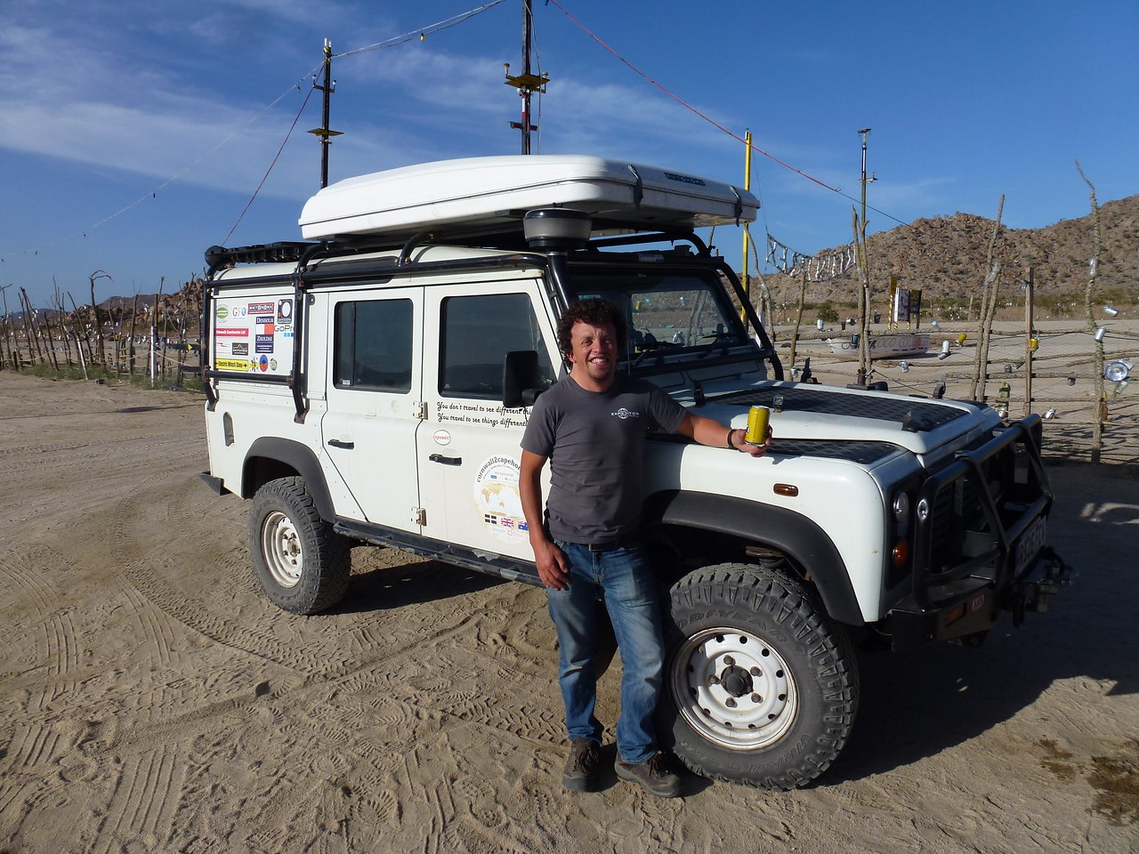 Ben from England <br /> <br /> Met this chap back at Gonzaga Bay .  Traveling around the world in his right hand drive , diesel Landy  or Land Rover for ya'all <br /> <br /> He has a blog - Cornwall2Capehorn .....take a look
