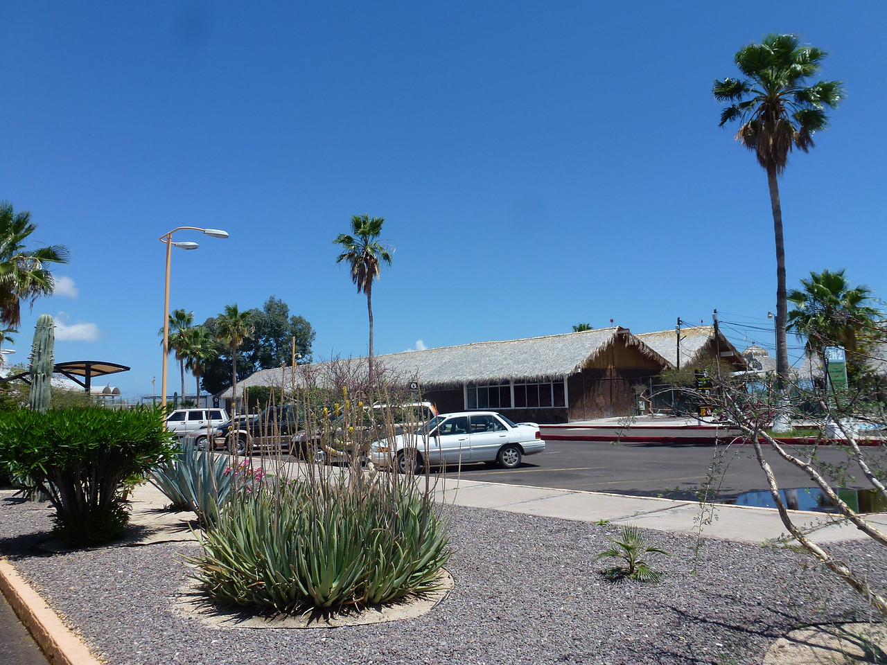International Airport at Loreto , BCS <br /> <br /> Note the thatched roofs