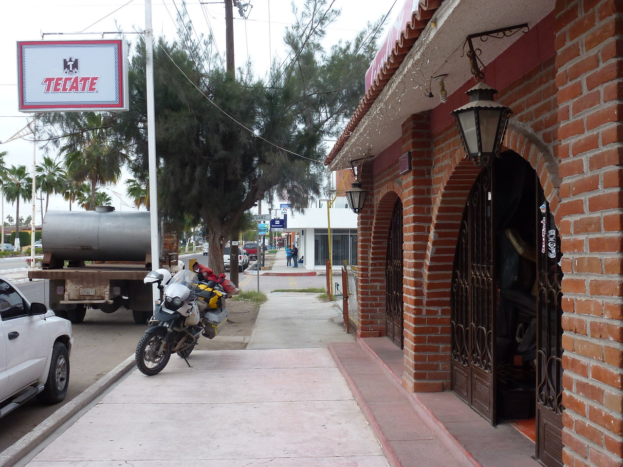 Mexico -<br /> <br /> Where parking on the sidewalk is the norm and also very legal ! <br /> <br /> At the El Atribe