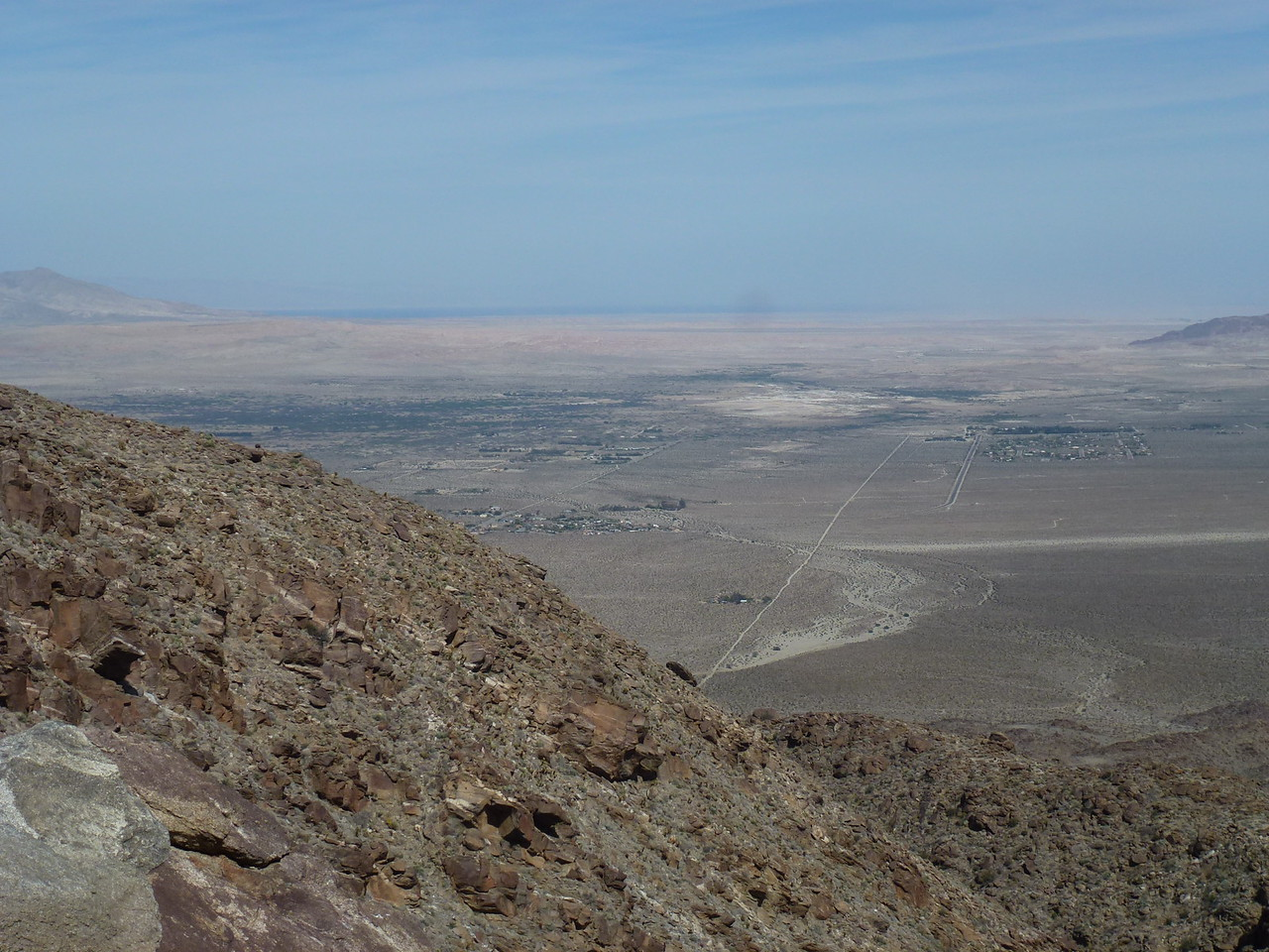 Borrego Springs , California <br /> <br /> That is the Salton Sea , on the horizon .