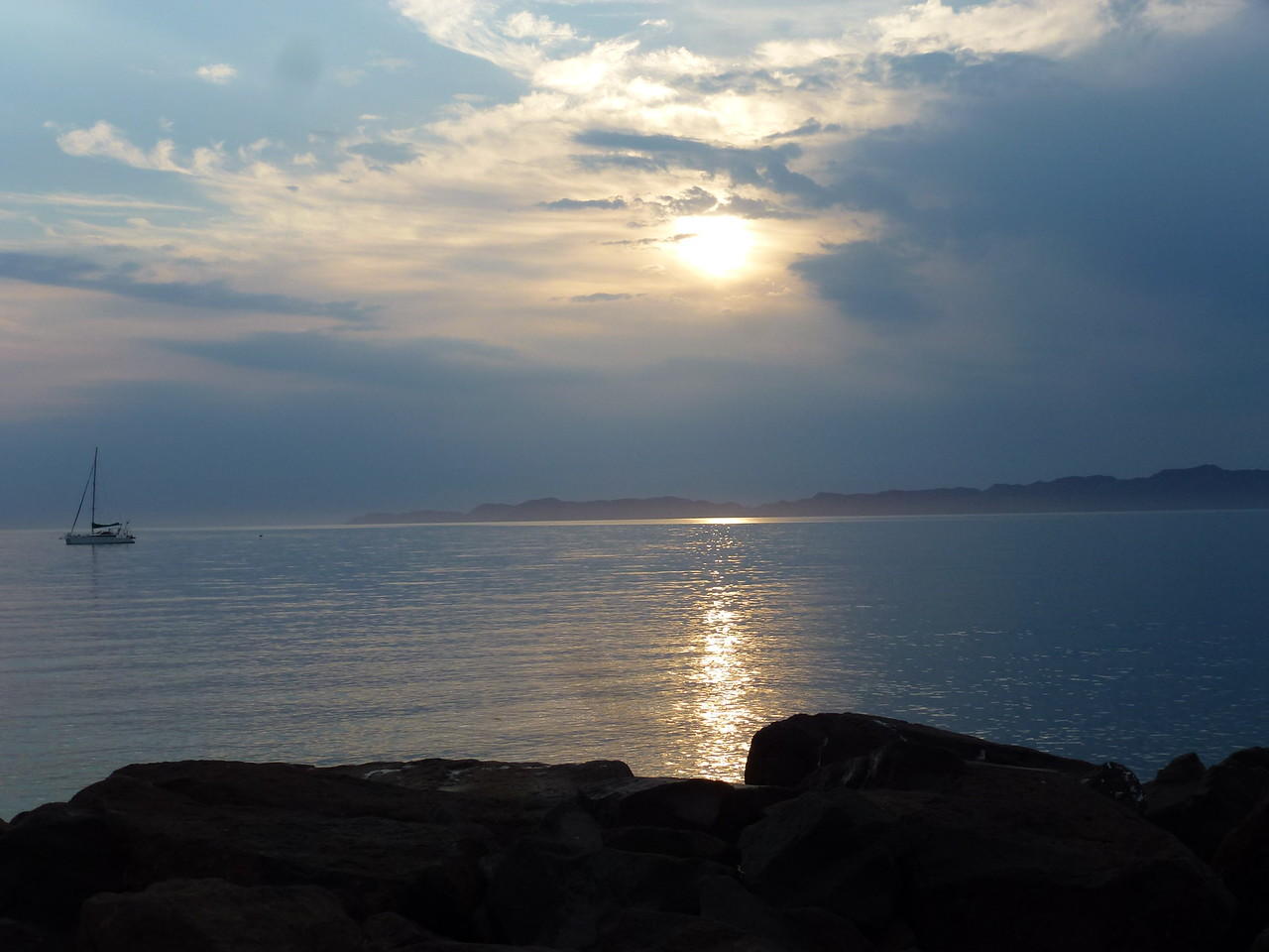 Sunrise over Isla del Carmen <br /> <br /> A large Island in the Sea of Cortez ( Mar de Pacifico )