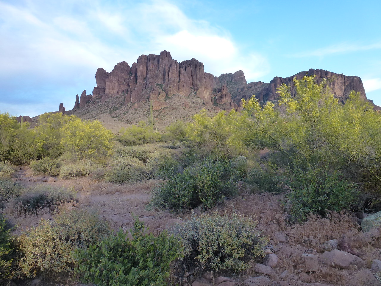 Superstition Mountains <br /> <br /> This one is called Flatiron