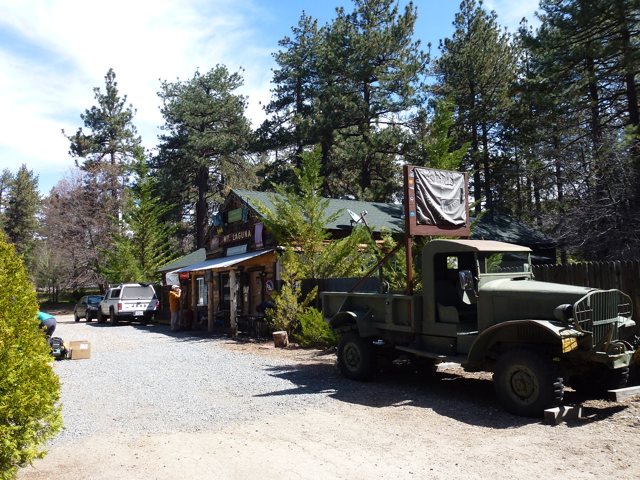 Mt. Laguna , California <br /> <br /> This little sporting goods store is a major restocking place for folks hiking the Pacific Crest Trail .<br /> <br /> The PCT passes about 6 miles from here