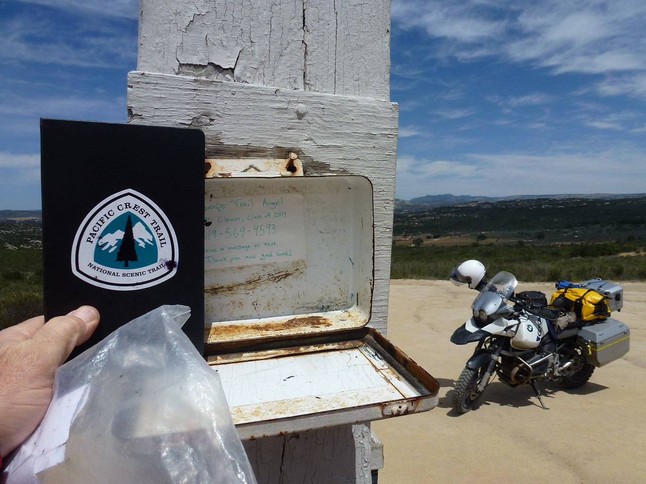 I signed the book .....<br /> <br /> Wrote a little ditty about riding into Mexico .