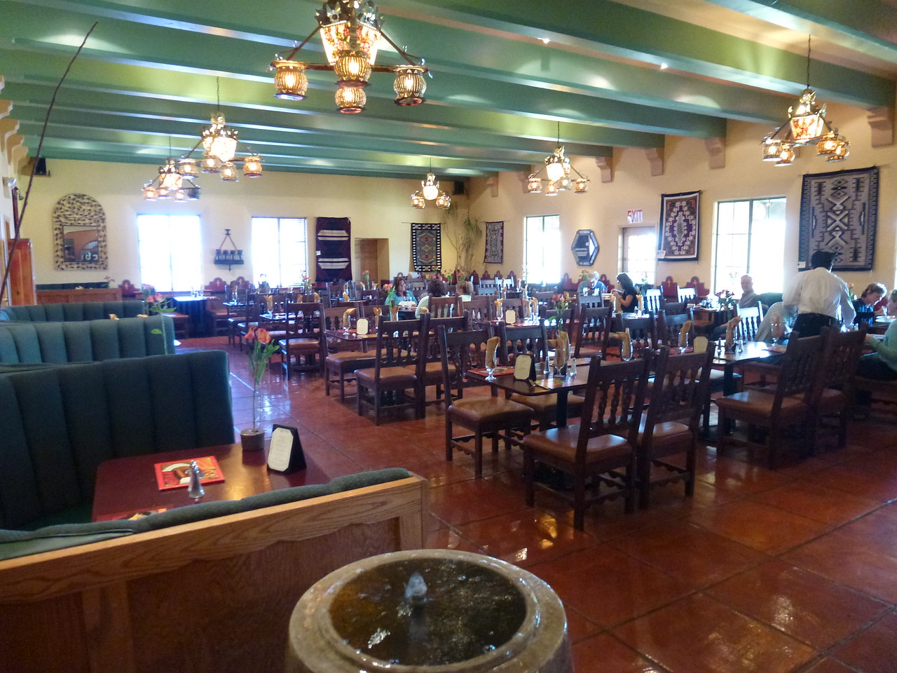 """Breakfast in the beautiful """"Turquoise Room """" at the La Posada"""