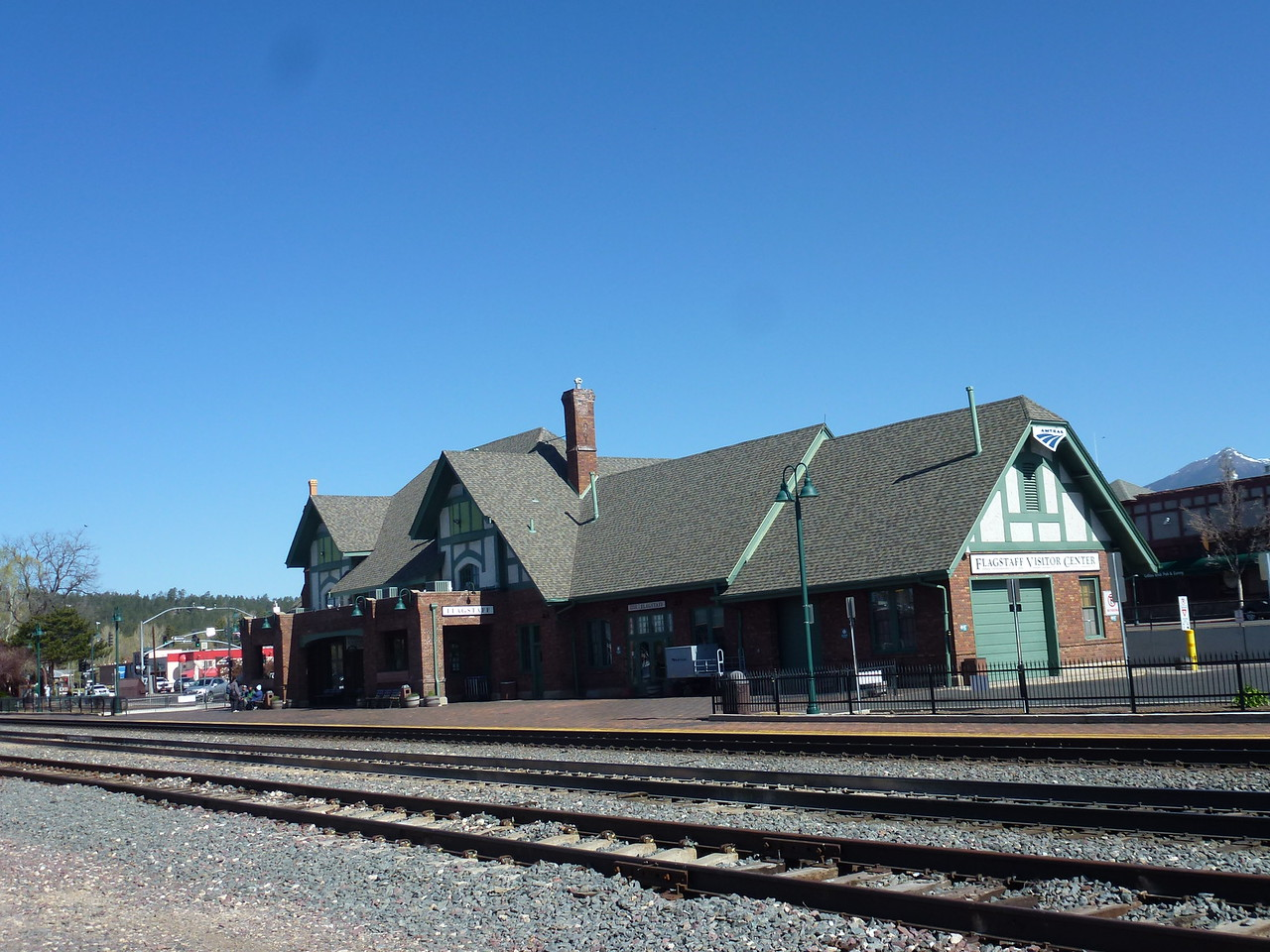 Iconic train station in Flagstaff
