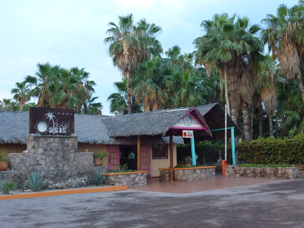 Later that day , I rolled into Loreto , BCS <br /> <br /> Loreto is home to the Oasis Hotel - my little honey hole <br /> <br /> Built in 1962 and just a super cool place to hang -which, is what I did for a week !