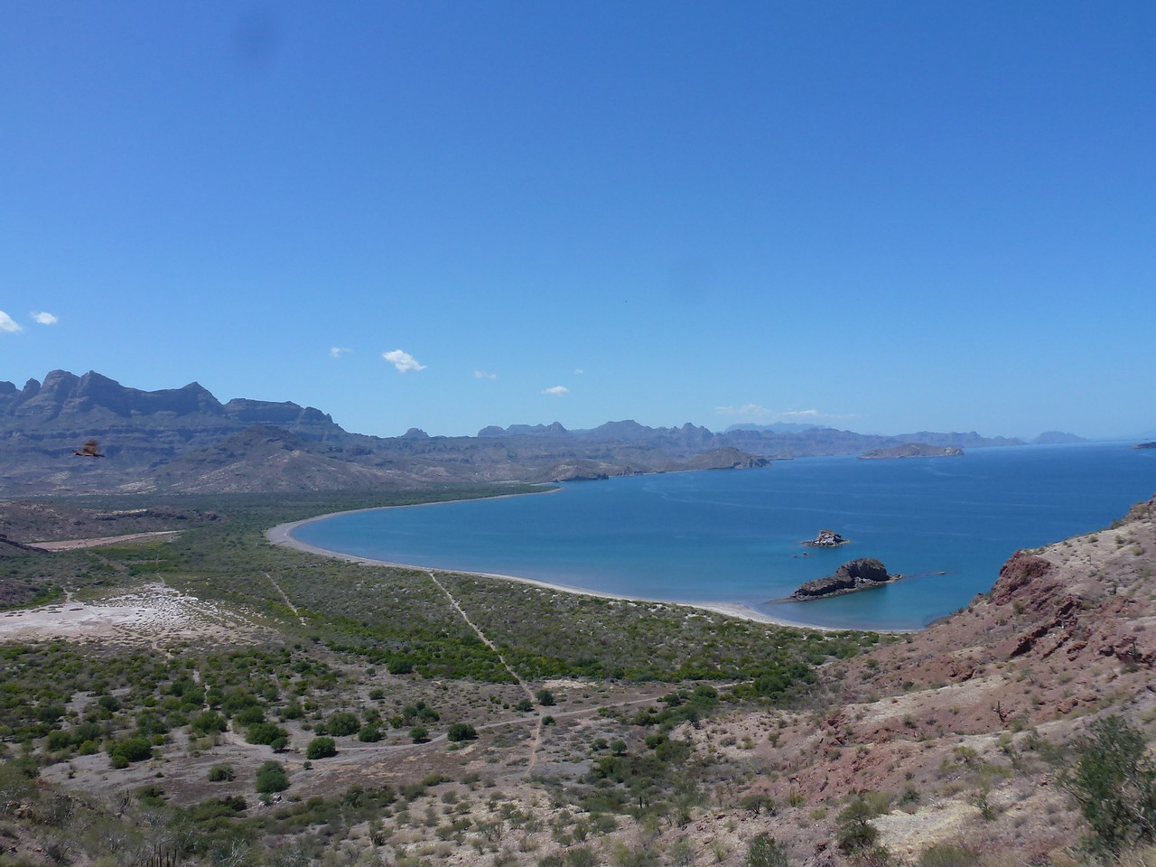 Sea of Cortez with Sierras in the back ground