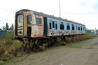 4 VEP 1392 (76740) at Southall Railway Centre 25/10/12.