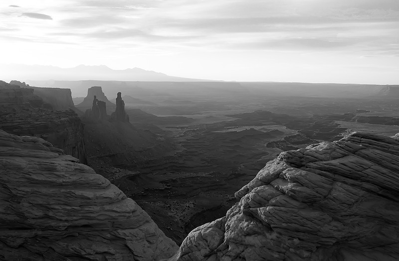 View from Mesa Arch, Canyonlands NP