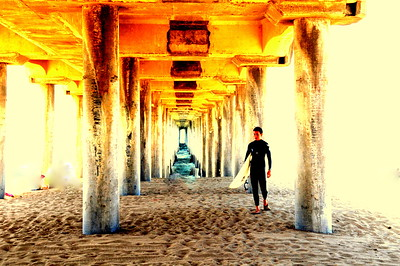 """Under The Pier"", Huntington Beach Pier, HB, CA"