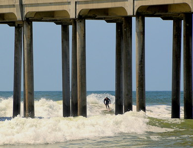 """Surfer Dude"" Huntington Beach Pier, HB, CA"